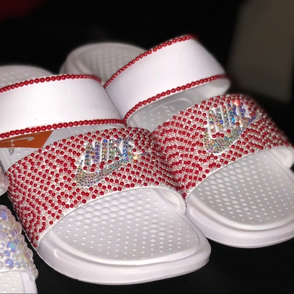 Nike Shoes | Bedazzled Nike Slides